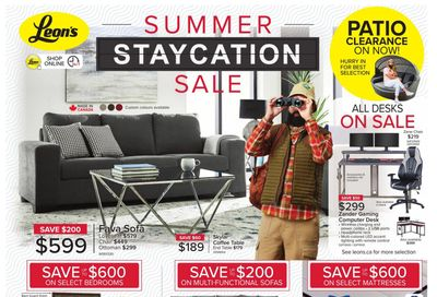 Leon's Summer Staycation Sale Flyer June 3 to 23