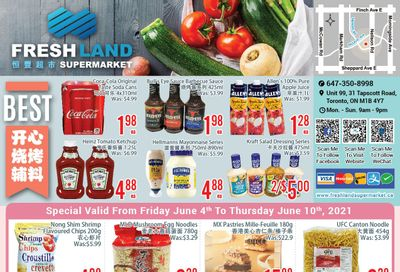 FreshLand Supermarket Flyer June 4 to 10