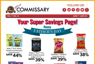 Commissary Weekly Ad Flyer June 7 to June 20