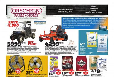 Orscheln Farm and Home (IA, IN, KS, MO, NE, OK) Weekly Ad Flyer June 9 to June 13