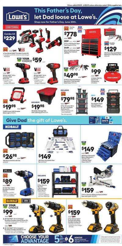Lowe's Weekly Ad Flyer June 10 to June 23