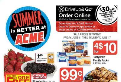 ACME (DE, NJ, NY, PA) Weekly Ad Flyer June 11 to June 17
