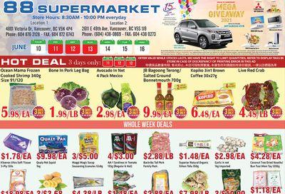 88 Supermarket Flyer June 10 to 16