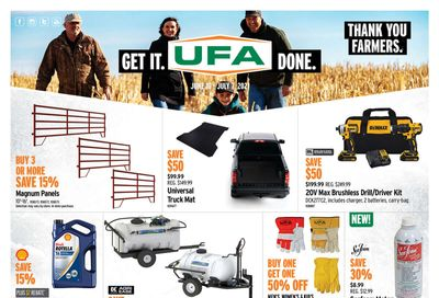 UFA United Farmers of Alberta Flyer June 10 to July 7