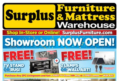 Surplus Furniture & Mattress Warehouse (Belleville, Peterborough & Oshawa) Flyer June 11 to July 11