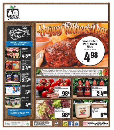 AG Foods Flyer June 13 to 19