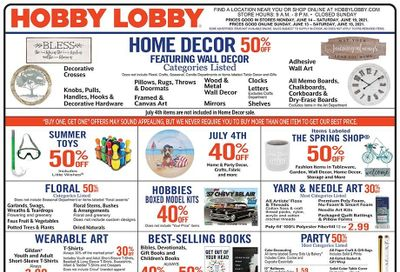 Hobby Lobby Weekly Ad Flyer June 13 to June 19