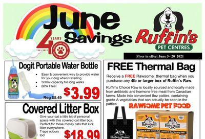 Rufiin's Pet Centre Flyer June 3 to 20