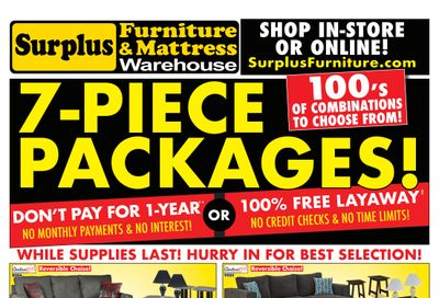 Surplus Furniture & Mattress Warehouse (Barrie) Flyer June 14 to 27