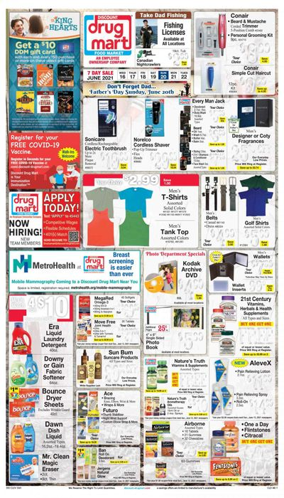 Discount Drug Mart (OH) Weekly Ad Flyer June 16 to June 22