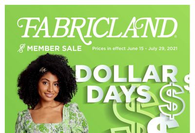 Fabricland (West) Flyer June 15 to July 29