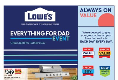 Lowe's Flyer June 17 to 23