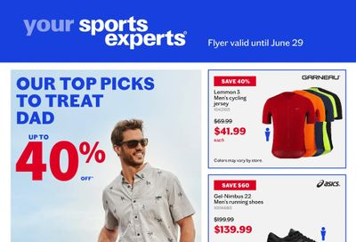 Sports Experts Flyer June 16 to 29