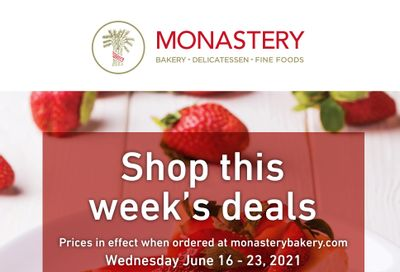 Monastery Bakery Flyer June 16 to 23