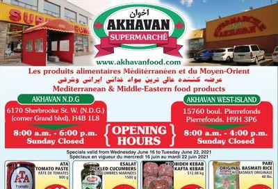 Akhavan Supermarche Flyer June 16 to 22