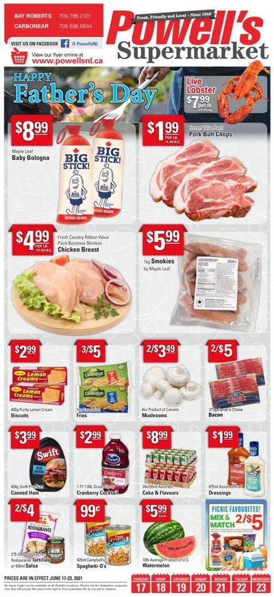Powell's Supermarket Flyer June 17 to 23