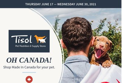 Tisol Pet Nutrition & Supply Stores Flyer June 17 to 30