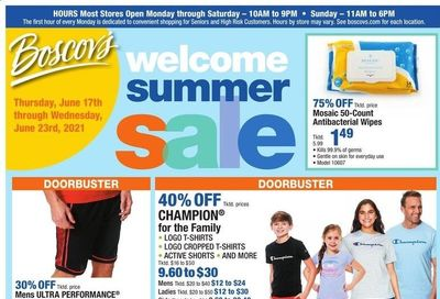 Boscov's (CT, DE, MD, NJ, NY, PA) Weekly Ad Flyer June 17 to June 23