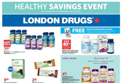 London Drugs Healthy Savings Event Flyer June 18 to 30