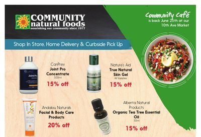 Community Natural Foods Flyer June 17 to 23