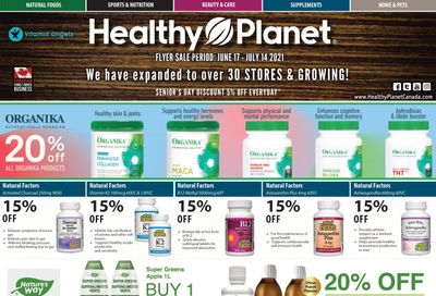 Healthy Planet Flyer June 17 to July 14