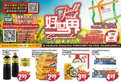 Field Fresh Supermarket Flyer June 18 to 24