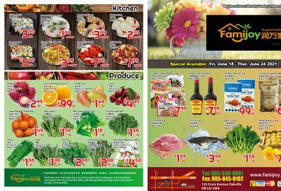 Famijoy Supermarket Flyer June 18 to 24