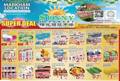 Sunny Foodmart (Markham) Flyer June 18 to 24