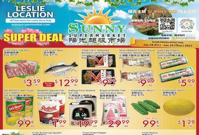 Sunny Supermarket (Leslie) Flyer June 18 to 24