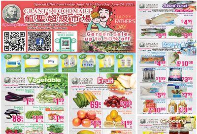 Grant's Food Mart Flyer June 18 to 24