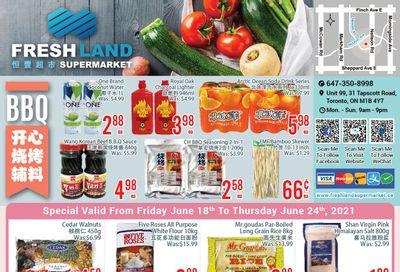 FreshLand Supermarket Flyer June 18 to 24