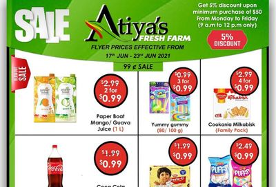 Atiya's Fresh Farm Flyer June 18 to 23