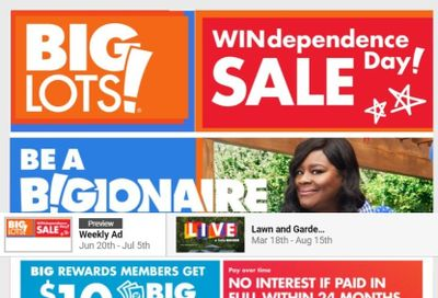 Big Lots Weekly Ad Flyer June 20 to July 5
