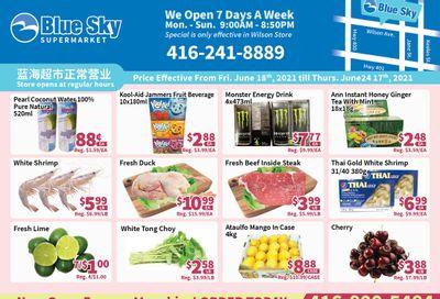 Blue Sky Supermarket (North York) Flyer June 18 to 24