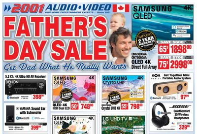 2001 Audio Video Flyer June 18 to 24