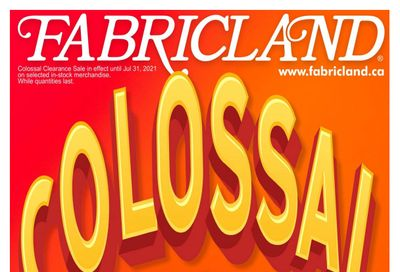 Fabricland (ON) Flyer June 18 to 31