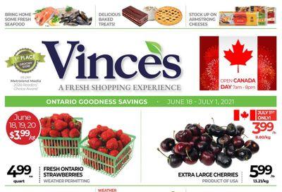 Vince's Market Flyer June 18 to July 1
