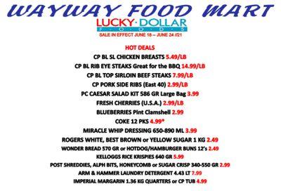 WayWay Food Mart Flyer June 18 to 24
