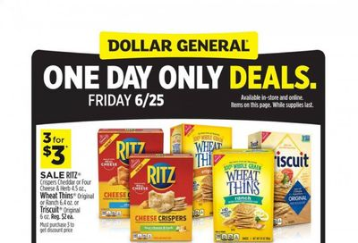 Dollar General Weekly Ad Flyer June 25 to June 25