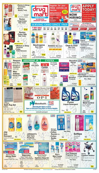 Discount Drug Mart (OH) Weekly Ad Flyer June 23 to June 29