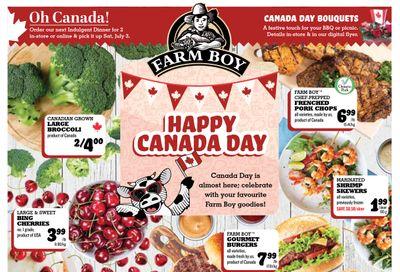 Farm Boy (Brantford, Cambridge, Cornwall, Hamilton, Kingston, Kitchener, London, Newmarket, Ottawa, Pickering, St. Catharines, Toronto and Whitby) Flyer June 24 to 30