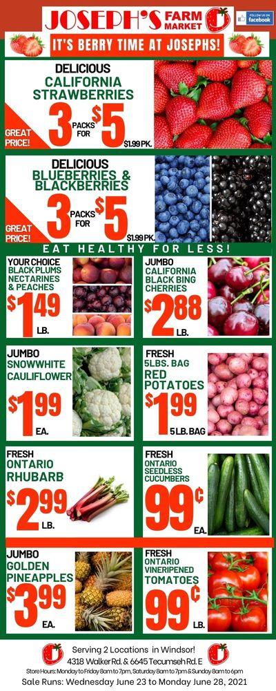 Joseph's Farm Market Flyer June 23 to 28