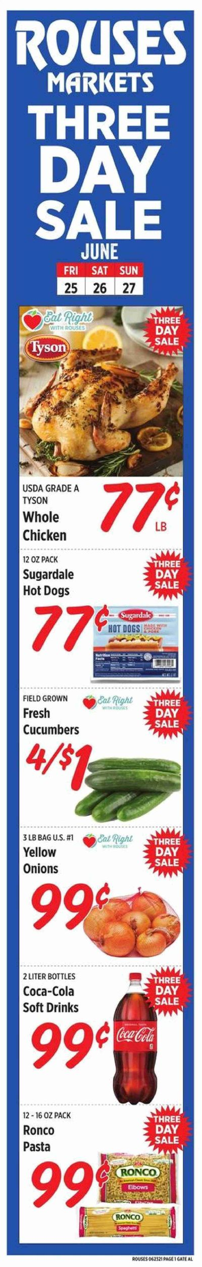 Rouses Markets (AL, LA, MS) Weekly Ad Flyer June 25 to June 27
