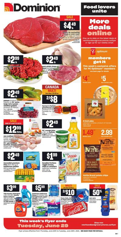 Dominion Flyer June 24 to 29
