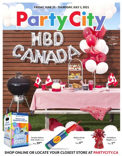Party City Flyer June 25 to July 1