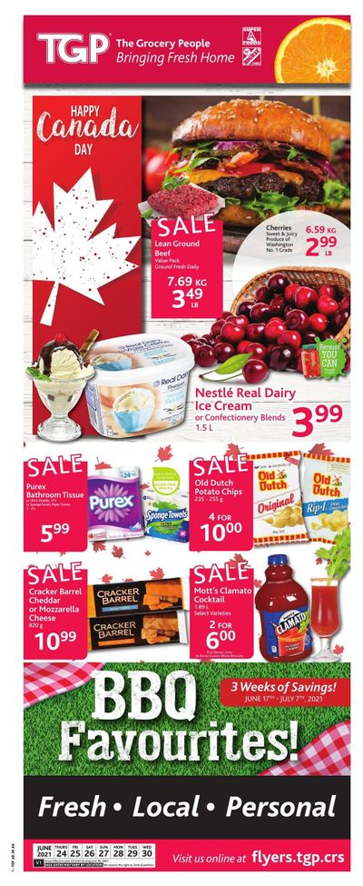 TGP The Grocery People Flyer June 24 to 30