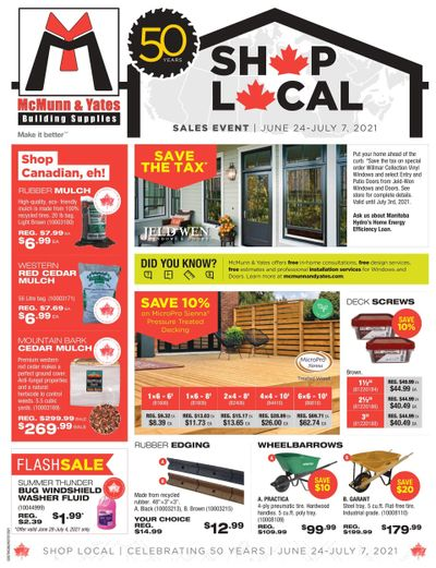McMunn & Yates Building Supplies Flyer June 24 to July 7