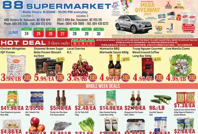 88 Supermarket Flyer June 24 to 30