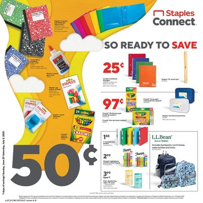 Staples Weekly Ad Flyer June 27 to July 3