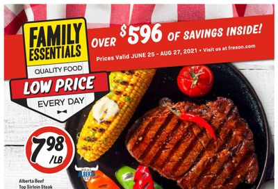 Freson Bros. Family Essentials Flyer June 25 to August 27